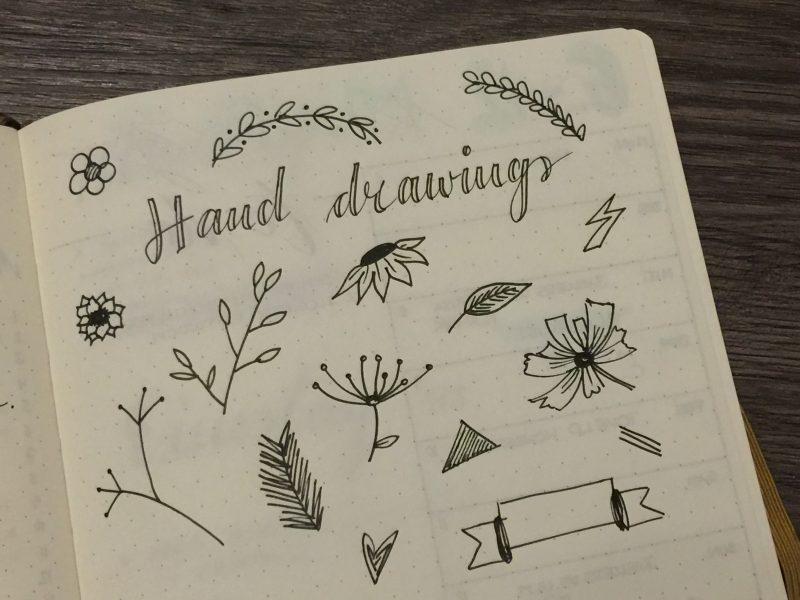 Kleine Zeichnungen im Bullet Journal