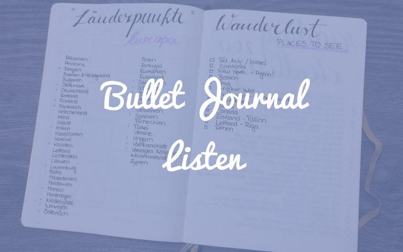 Bullet Journal Listen – die Klassiker und weitere Ideen