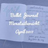 Bullet Journal Monatsübersicht April 2017