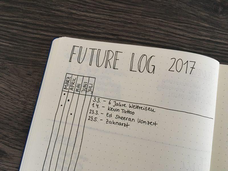 Future Log mit der Alastair-Methode