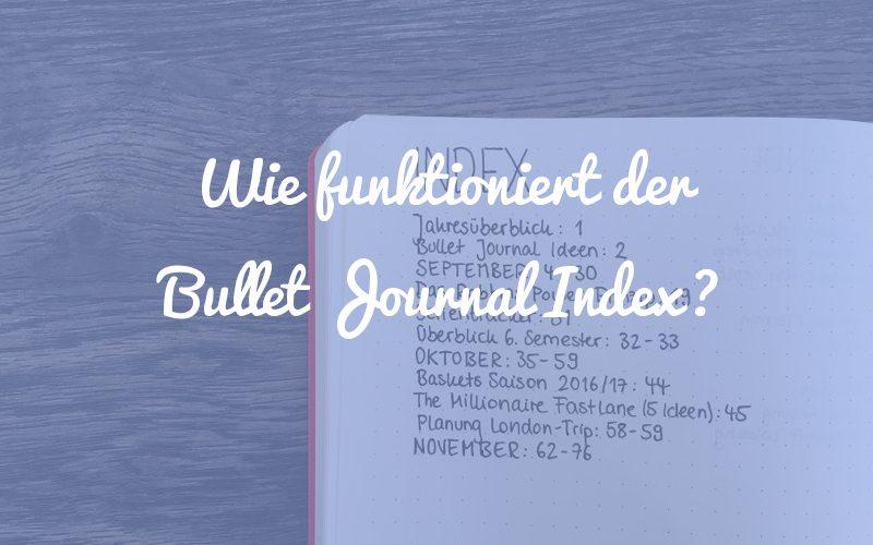 Wie funktioniert der Bullet Journal Index?
