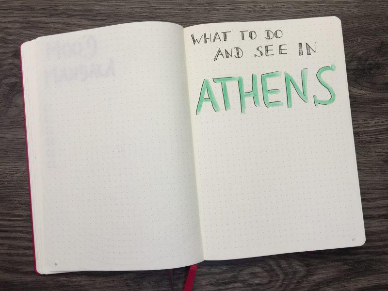Bullet Journal Monatsübersicht Juni 2017 Athen