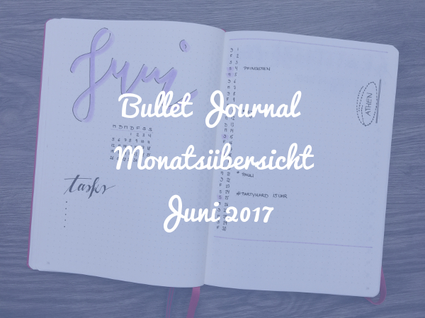 Bullet Journal Monatsübersicht Juni 2017