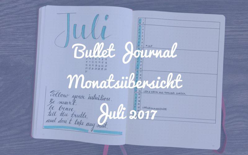 Bullet Journal Monatsübersicht Juli 2017