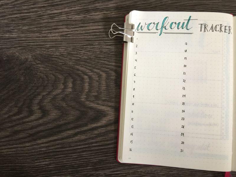 Monatsübersicht Juli Workout Tracker