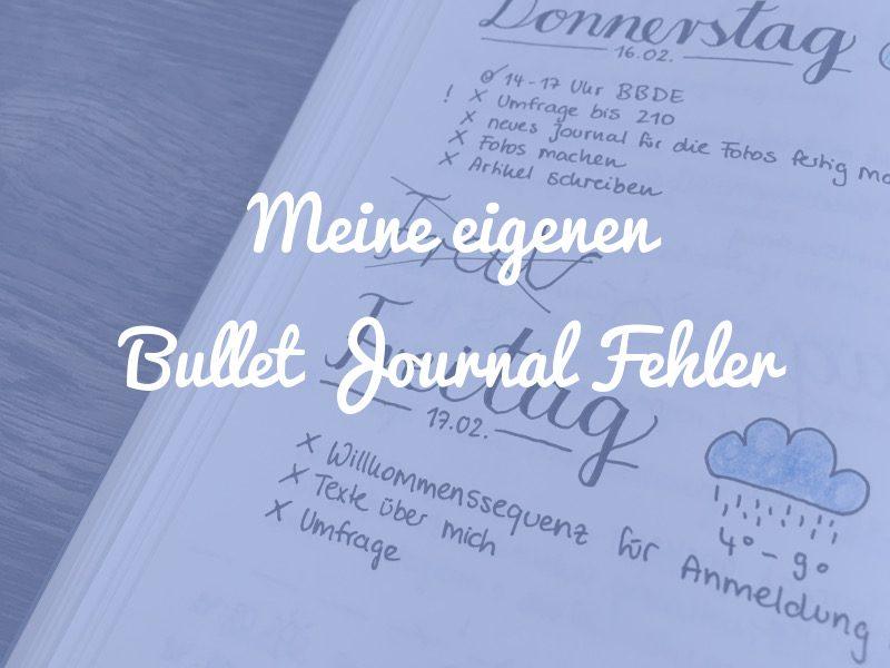 Bullet Journal Fehler