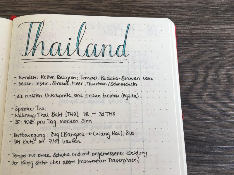 Informationen über Thailand