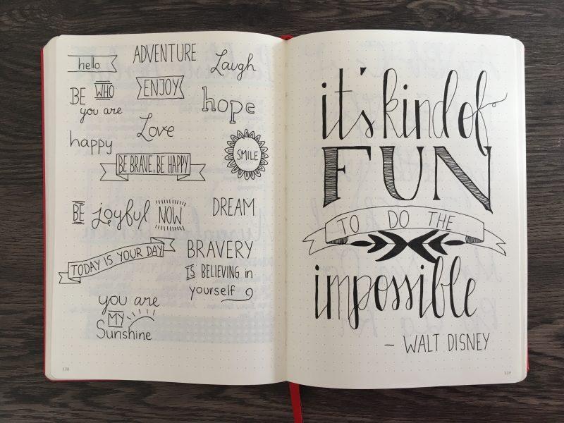 Zitat von Walt Disney Handlettering
