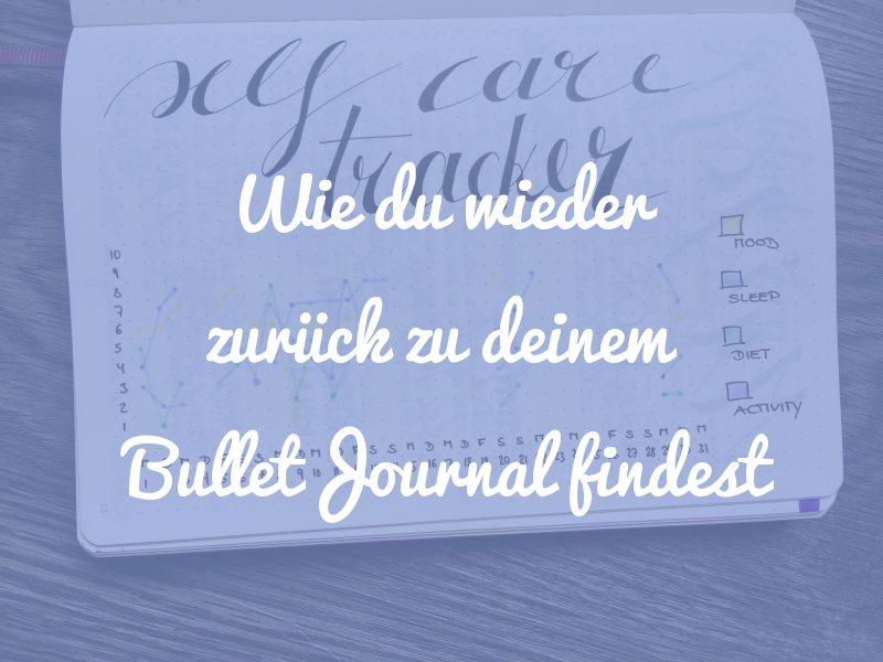 zurück zum Bullet Journal