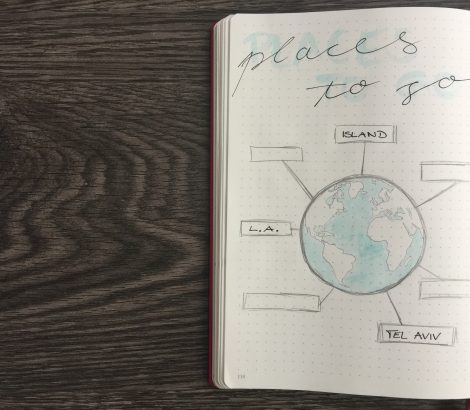 Places to go Bullet Journal