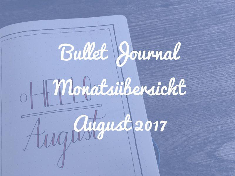 Monatsübersicht August