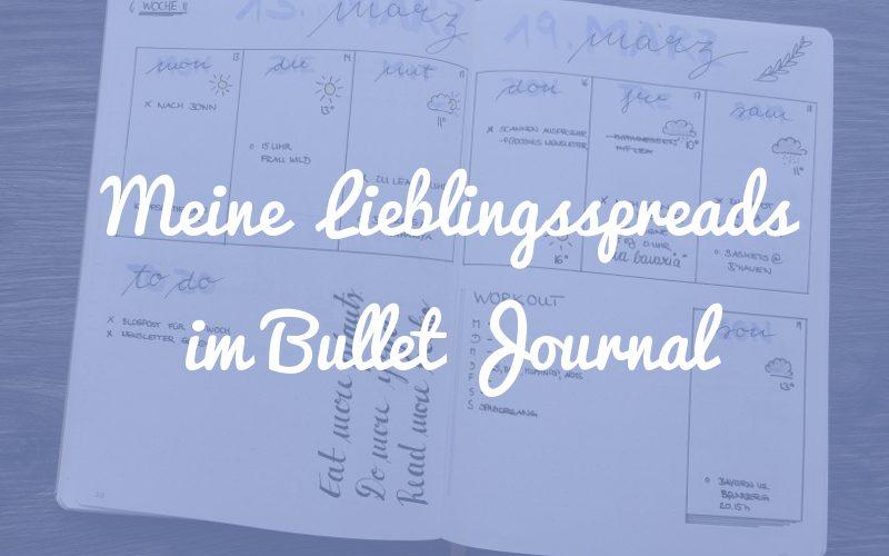 Meine Lieblingsspreads im Bullet Journal