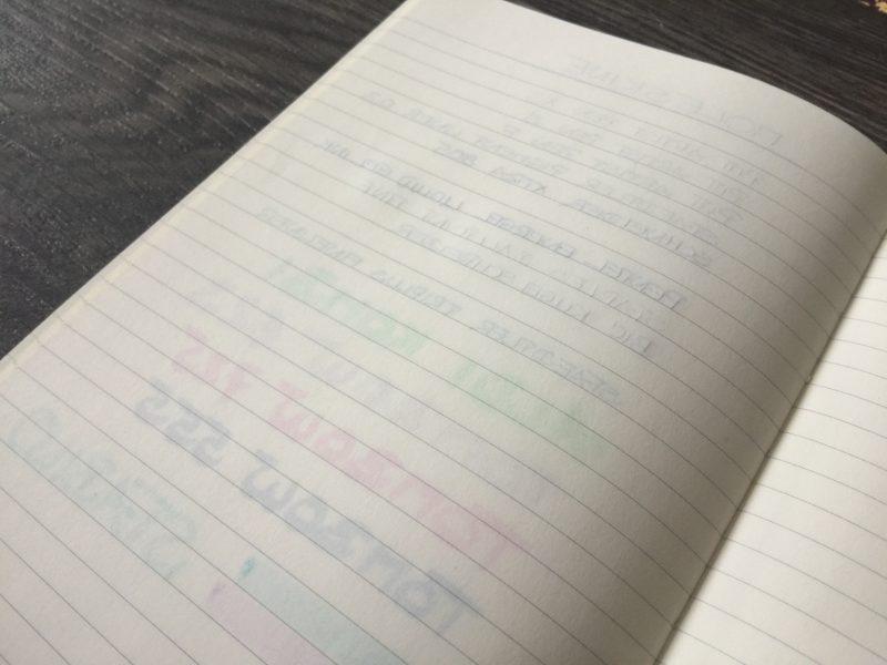 Moleskine Notizbuch Bullet Journal hinten nah