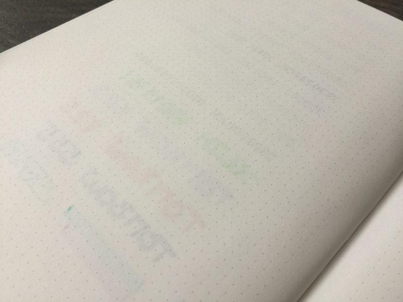 Nuuna Bullet Journal Notizbuch hinten nah