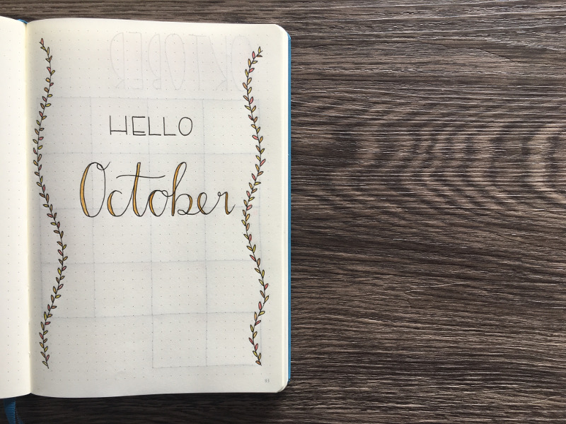 Bullet Journal Monatsübersicht Oktober 2017: Deckblatt