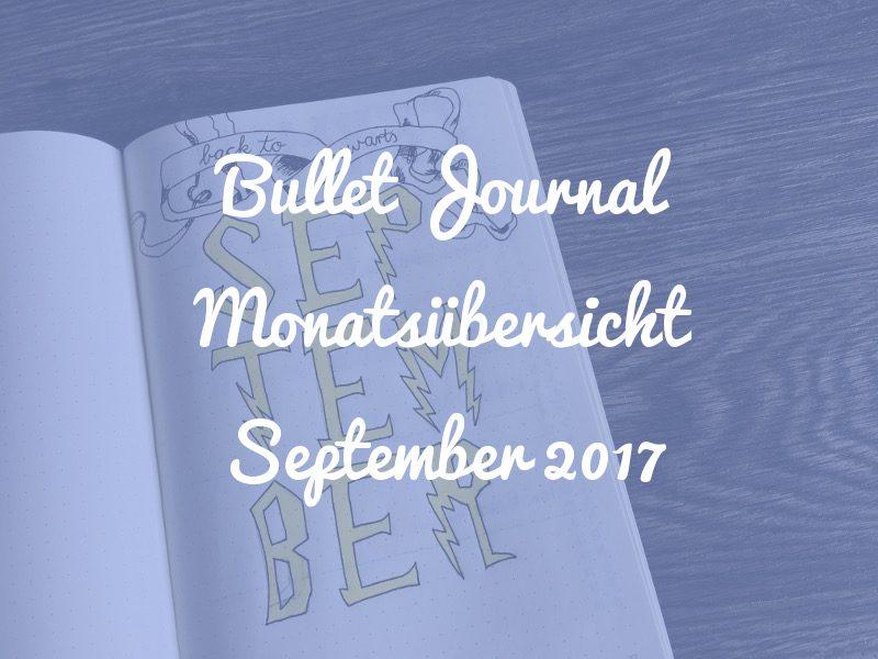 Bullet Journal Monatsübersicht September im Harry Potter Design