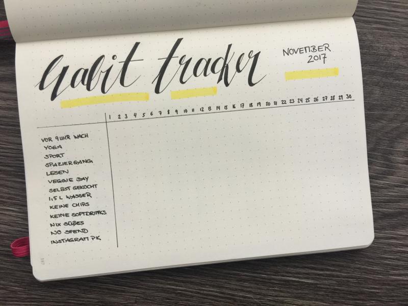 Monatsübersicht September habit tracker