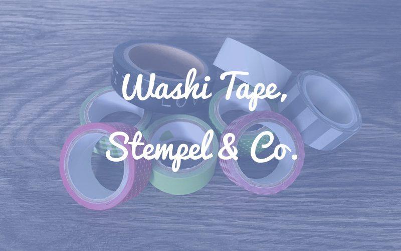 Washi Tape, Stempel & Co.: Sonstiges hilfreiches Zubehör für dein Bullet Journal