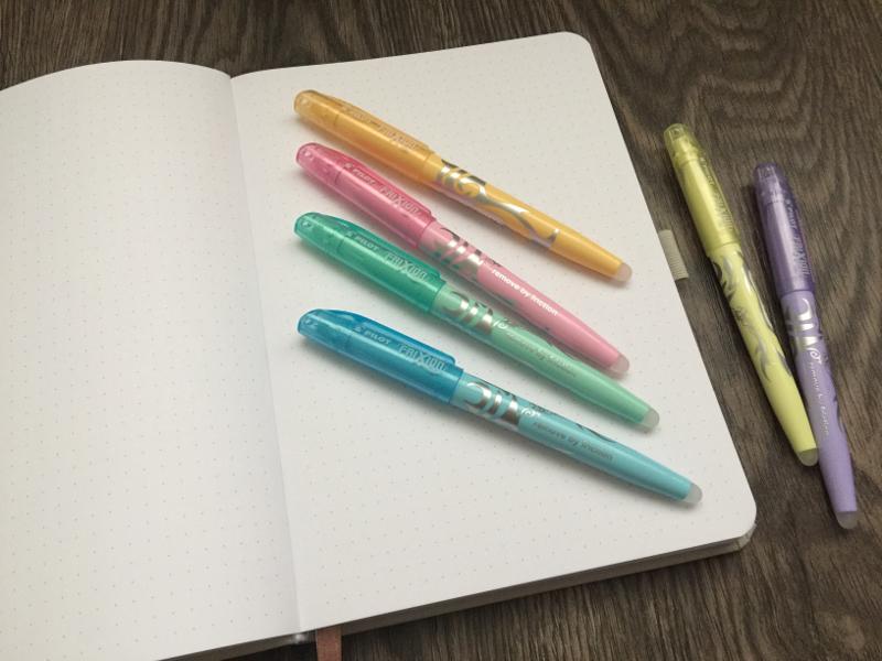 Farbcode im Bullet Journal Pilot Set Buch und Stifte