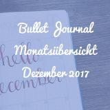 Bullet Journal Monatsübersicht Dezember