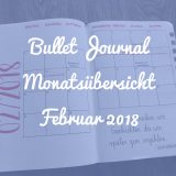 Bullet Journal Monatsübersicht Februar 2018