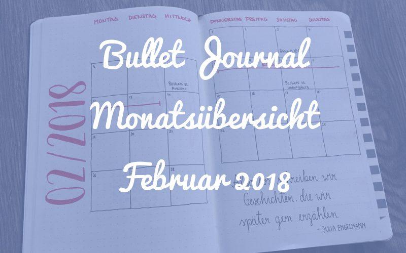 Bullet Journal Monatsübersicht: Februar 2018 (plus: Setup neues Bullet Journal)