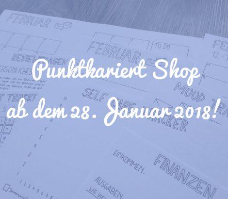 Punktkariert Shop ab dem 28. Januar 2018