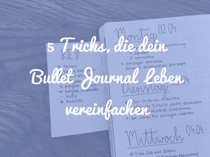 Bullet Journal Tricks