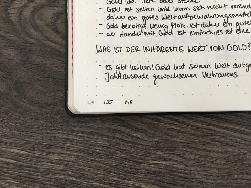 Bullet Journal Tricks: Zusammengehörige Seiten markieren