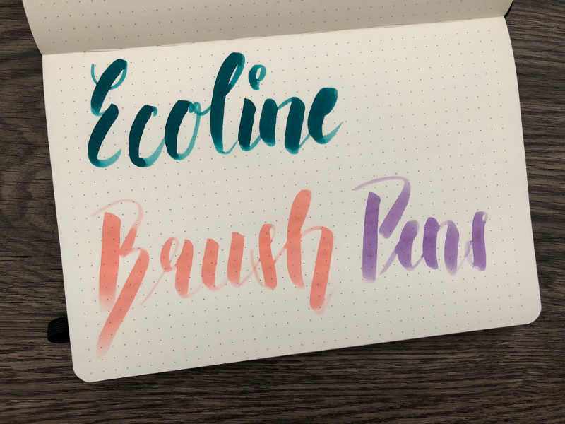 ecoline brush pens
