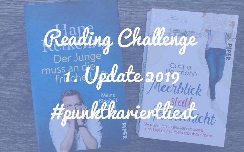 Punktkariert Reading Challenge 2019: Unser erstes Update!