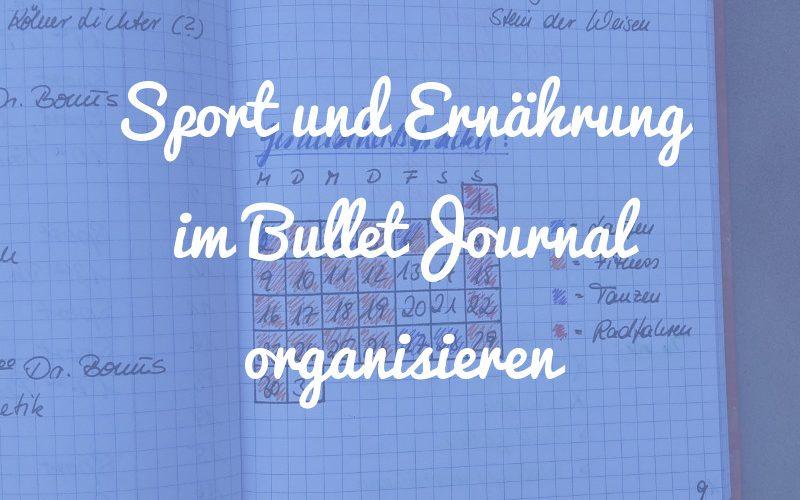 Wie du Sport und Ernährung im Bullet Journal organisieren kannst