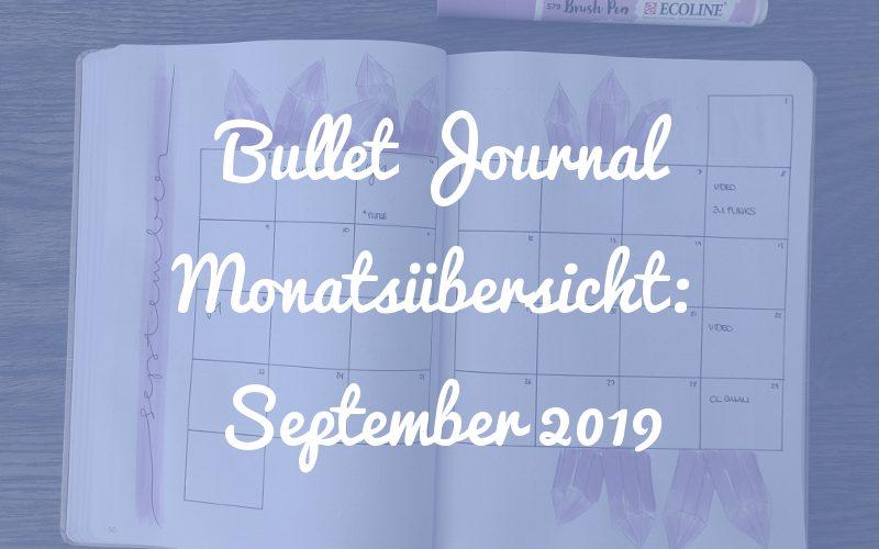 Bullet Journal Monatsübersicht: September 2019