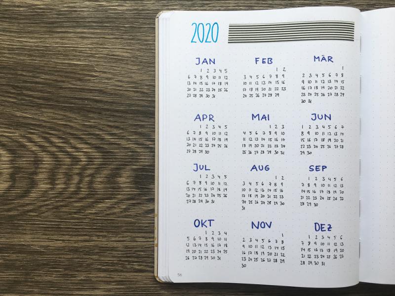 Future Log Jahresübersicht 2020